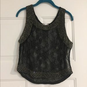 Full lace blouse with beading